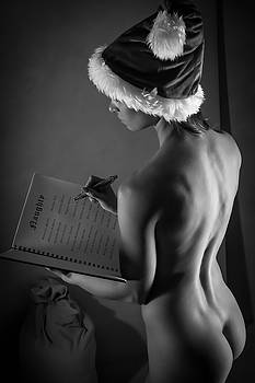 The List - Sexy Santa V by Blue Muse Fine Art