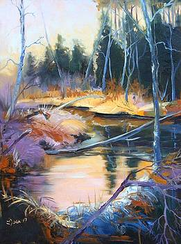 The little creek in a colorful world by Mona Davis