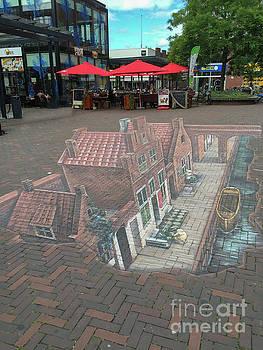 Patricia Hofmeester - The little street by Vermeer in 3D