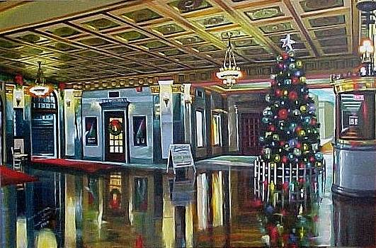 The Lobby at Christmastime by Bobbi Baltzer-Jacobo