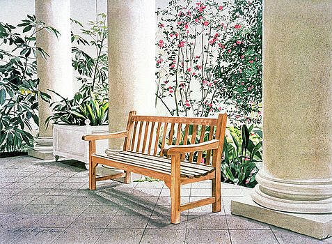 The Loggia at The Virginia Steele Scott Galleriy of American by David Lloyd Glover