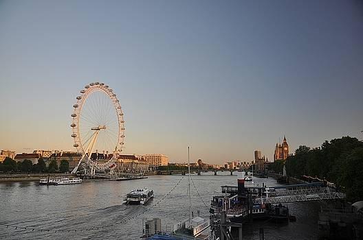 The London Eye at Dusk by Hans Kool