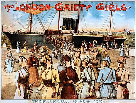 The London gaiety girls, their arrival in New York, performing arts poster, 1891 by Vintage Printery