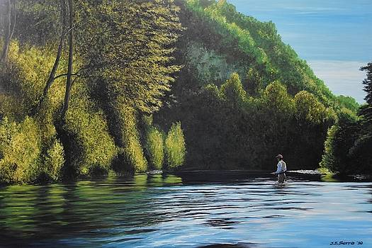 The lonely fly fisher by Juan Jose Serra