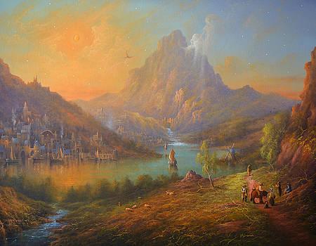 The Lonely Mountain Smaug by Joe  Gilronan