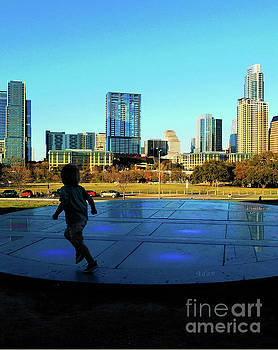 Felipe Adan Lerma - The Long Center - Austin Skyline from City Terrace Vertical