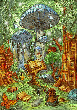 The Lost Library Forest by Luis Peres