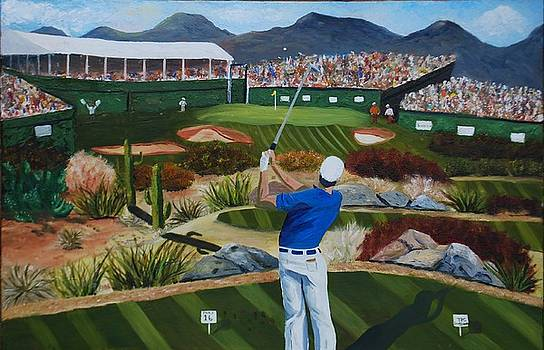 The Loudest Hole in Golf number Sixteen at Scottsdale  by Brian Hustead