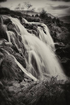 The Loup of Fintry in Black and White by Jeremy Lavender Photography