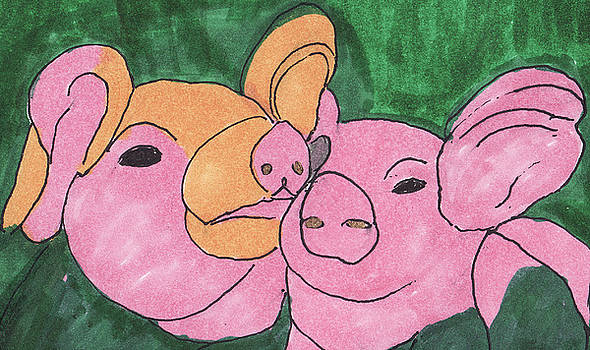 The Love Piglets by Golden Dragon