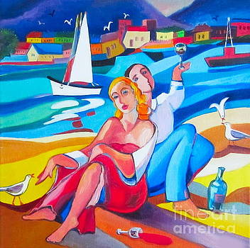 The Lovers and wine by Elena Yalcin