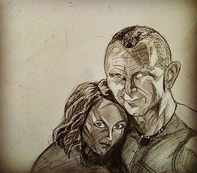 The Lovers Sketch #1 by Mark Bradley