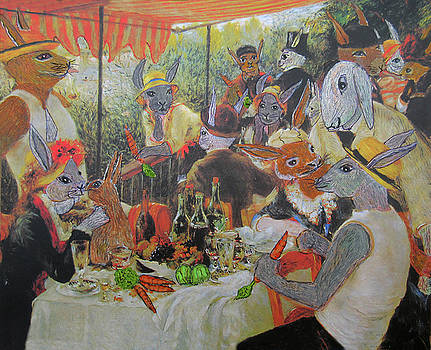 The luncheon of the Watership down party by Gordon Wendling
