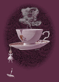 The Mad Teacup - Rose by Swann Smith