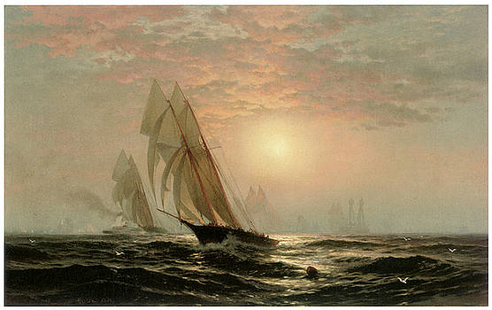 Edward Moran - The Madeleine