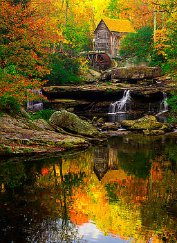The magical Babcock Mill on a perfect autumn day. by Matt Shiffler