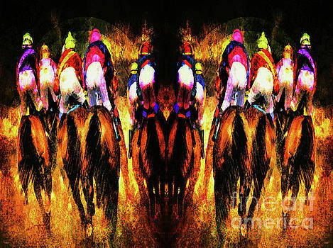The Magnificent Riders Abstract by Tina LeCour
