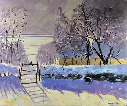 The Magpie after Monet by Jack Riddle