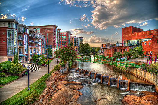 The Main Attraction Reedy River Greenville South Carolina Art by Reid Callaway