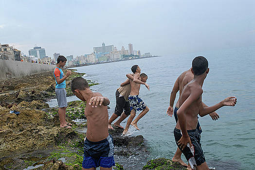 The Malecon, Havana, Cuba. by Michael Manning