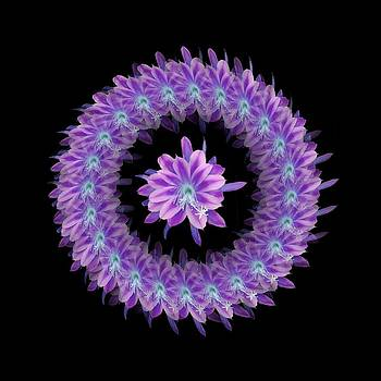 The Mandala of Purple Tropical Flower by Jacqueline Migell