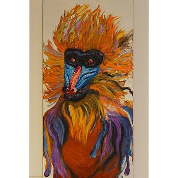 The Mandrill Monkey. Safari Animals. by Valeriya Bugatti