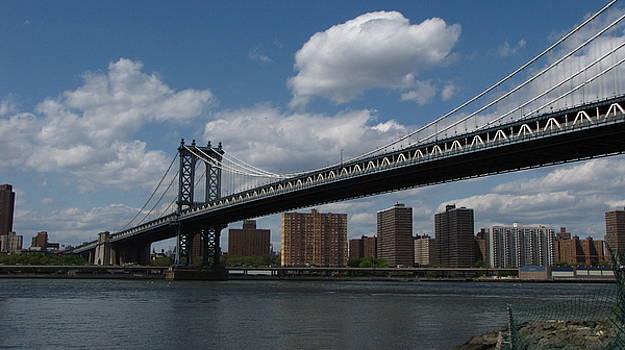 The Manhattan Bridge From Brooklyn by Peter Aiello