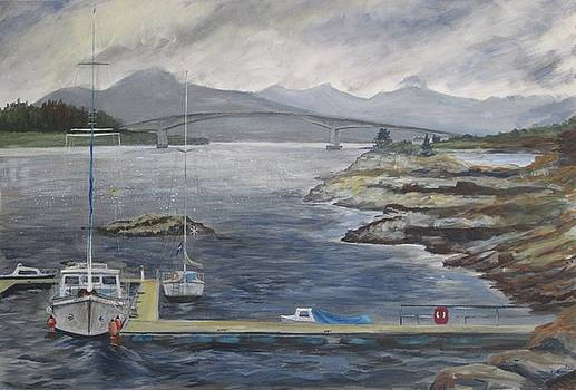 The Marina at Kyle of Lochalsh by Cindie Reiter