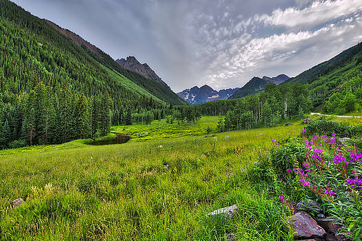 The Maroon Bells - Maroon Lake - Colorado by Photography By Sai