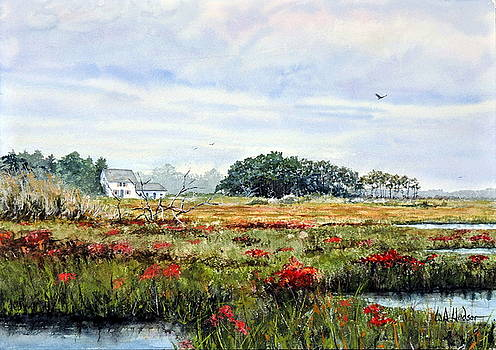 The Marsh in Bloom by Bill Hudson
