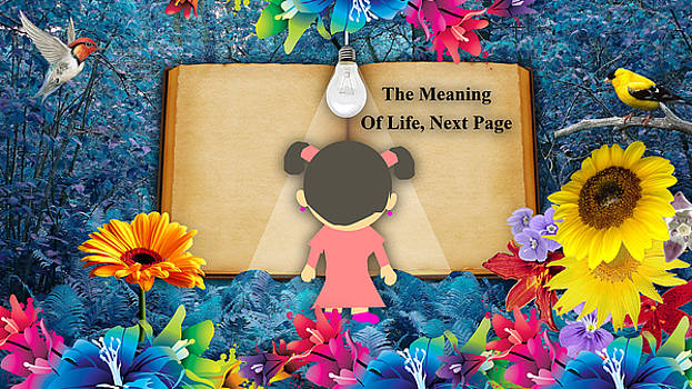 The Meaning Of Life Art by Marvin Blaine