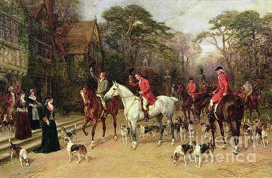 Heywood Hardy - The Meet at the Manor House