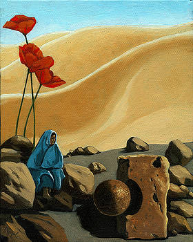 The Meeting - surreal figurative fantasy by Linda Apple