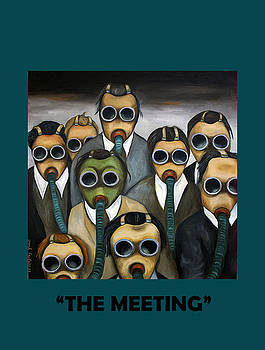 Leah Saulnier The Painting Maniac - The Meeting with Lettering