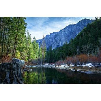 The Merced River In Yosemite National by David Dedman