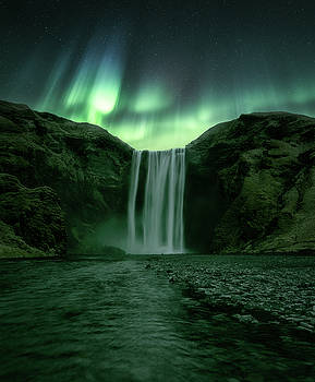 The Mighty Skogafoss by Tor-Ivar Naess