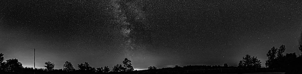 Steve Harrington - The Milky Way - Center Stage - 180 Panorama bw