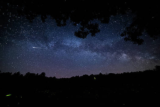 The Milky Way, Fireflies, and Shooting Stars by Nathan Larson