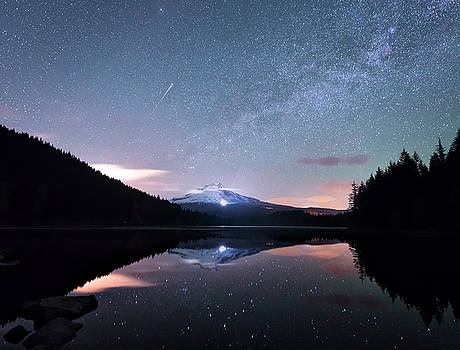 The Milky Way over Mt Hood by Matt Shiffler