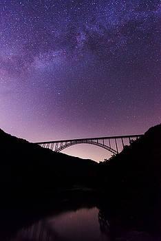 The Milky Way over New River Bridge by Matt Shiffler