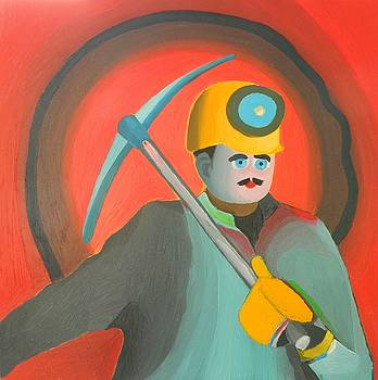 The miner  by Moma Bjekovic