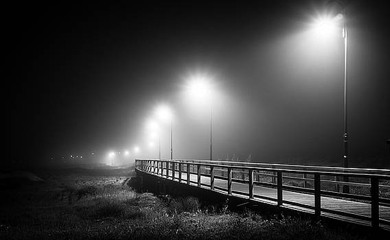 The Misty Walkway. by Gary Gillette