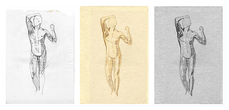 David Hargreaves - The Modern Age - Triptych - Homage Rodin