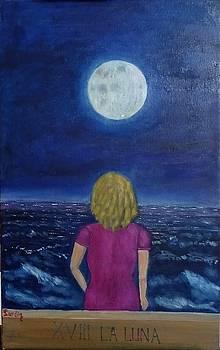 The moon by Juan Sandin