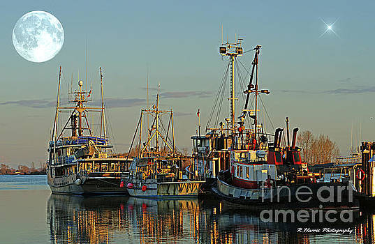 The Moon over the Fishing Boats by Randy Harris