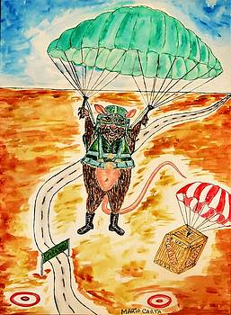The Most Interesting Rat In The World Parachutist  by Mario Carta