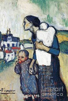 Picasso - The Mother Leading Two Children