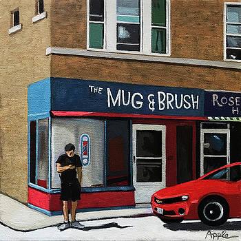 The Mug and Brush - urban painting by Linda Apple