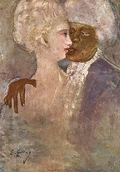 The Mulatto And The Sculpturesque White Woman 1913 by Gulacsy Lajos