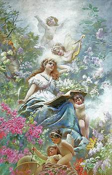 The Muse of Poesie 1886 by Konstantin Makovsky by William Roberts